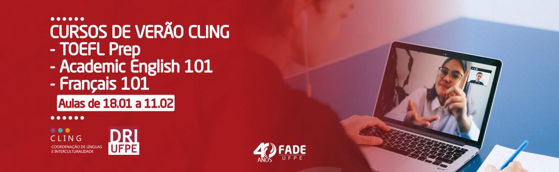 Apoiada pela Fade, CLING oferta cursos de inglês e francês