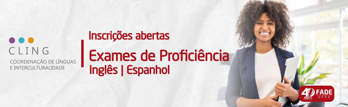 Apoiada pela Fade, CLING-UFPE abre inscrições para exames de proficiência em Inglês e Espanhol