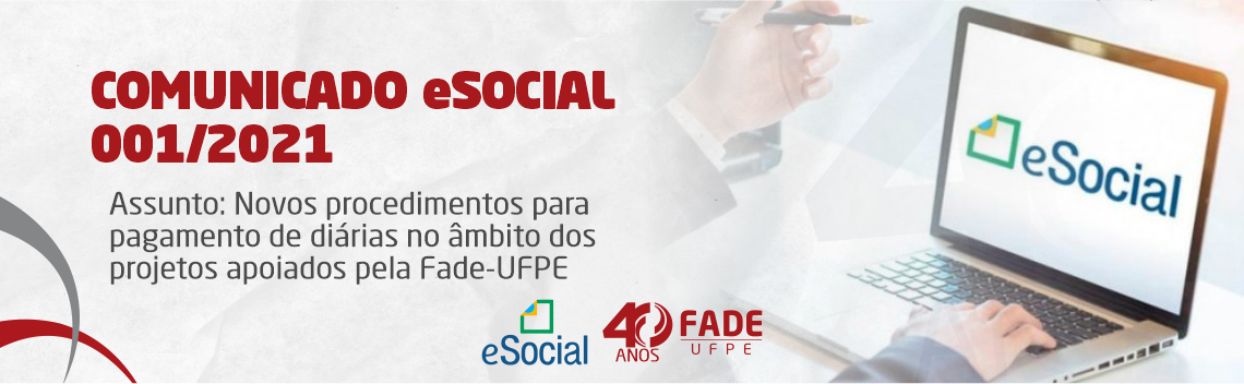 eSocial |Comunicado 001/2021 – Diárias